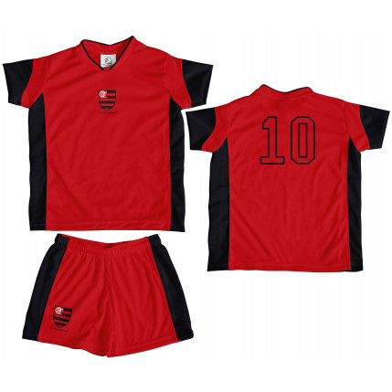 Kit Camiseta e Shorts Infantil FLAMENGO