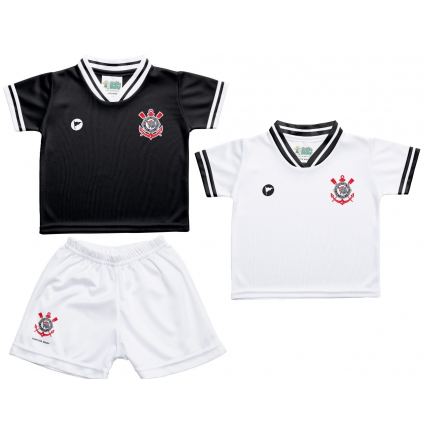 Kit 2 Camisetas e Shorts Corinthians