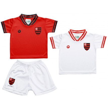 Kit 2 Camisetas e Shorts Flamengo