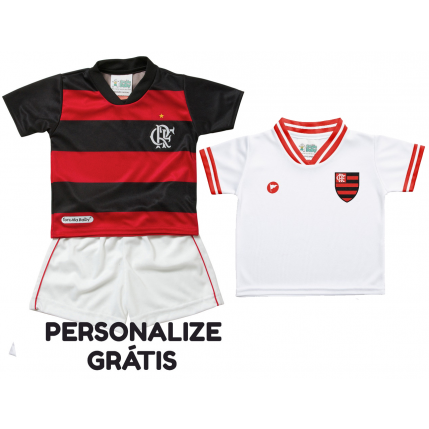 Kit 2 Camisetas e Shorts Bebe/Infantil Flamengo