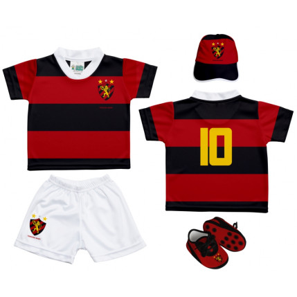 Kit Camiseta, Shorts, Boné e Chuteira Bebê SPORT CLUB DO RECIFE