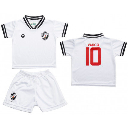 Camiseta e Shorts Branco Vasco