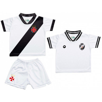 Kit 2 Camisetas e Shorts Bebe/Infantil Vasco