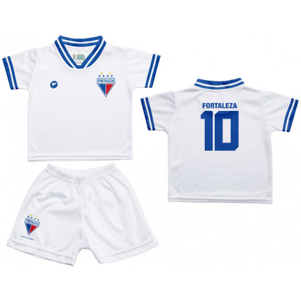 Kit Camiseta e Shorts Branca Fortaleza